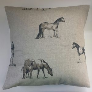 "Cushion Cover in Clarke & Clarke Chevaux Horse and Foal 14"" 16"" 18"" 20"""